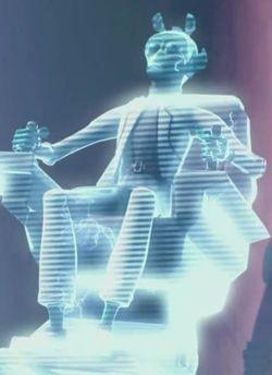 Dieses Hologroamm zeigt Taquito kurz vor seinem Tod