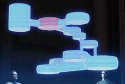 Ein Hologramm von Nuvo Vindis Labor