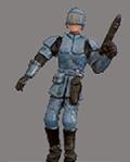 Ein Soldat der GAG