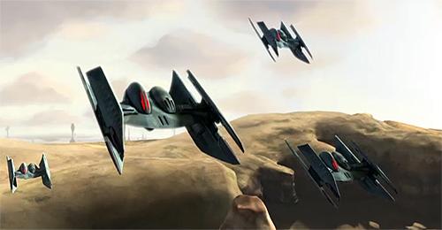Eine Gruppe Hyena-Klasse Bomber.