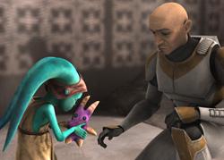Waxer gibt Numa ihre Tooka-Puppe