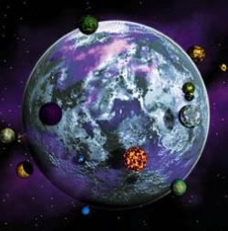 Iego und ein Teil seiner 42 Monde