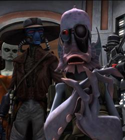Robonino, Cad Bane, Aurra Sing und 3D im Kontrollraum des Senats
