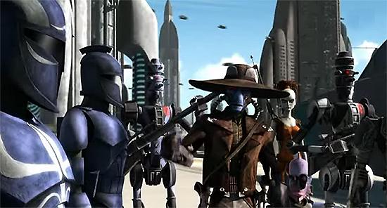 Cad Bane und sein Team nach der Einnahme der Landeplattfrom