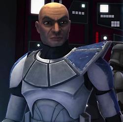 Captain Rex mit seinem Schulter-Pauldron