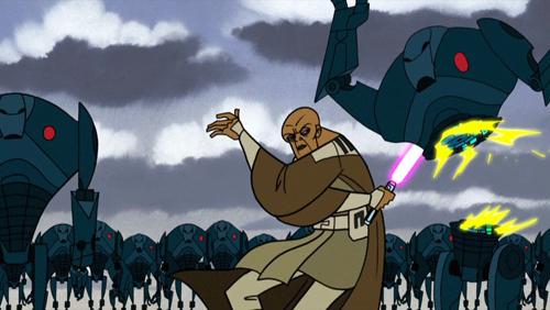 Mace Windu in der Schlacht um Dantooine