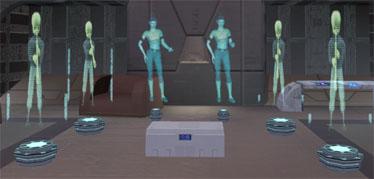 Hologramme von allen Mitgliedern des Rancor-Trios