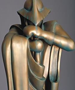 Eine Statue aus Bronzium