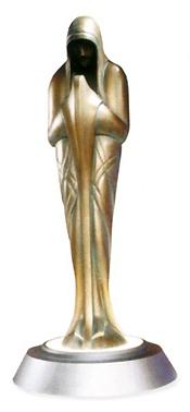 Eine Bronzium-Statue von Sistros.