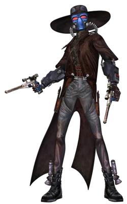 Cad Bane mit seinen beiden LL-30 Blasterpistolen