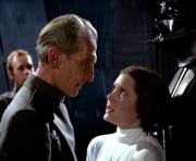 Leia, Tarkin und Darth Vader