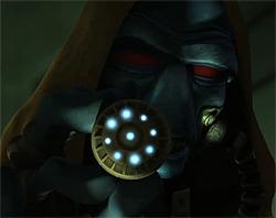 Cad Bane setzt seinen Hypnosegazer ein.