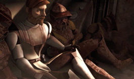 Obi-Wan Kenobi und Trapper im Wrack der Bad Kitty.