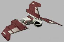 Ein Jedi-Botschafter-Shuttle.