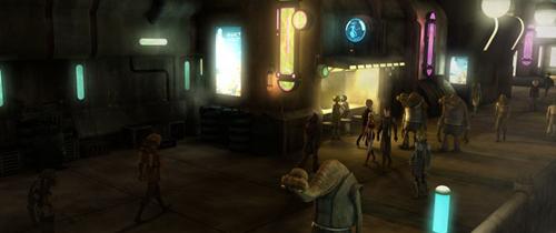 Der Teil des Slum-Destrikts G17 in dem Ahsoka Tano ihr Lichtschwert gestohlen wurde.