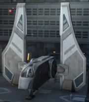 Ein Mandalorianisches Shuttle.