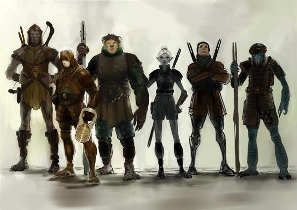 Eine Star-Wars-Spiele-Konzeptzeichnung von Carlos Huante