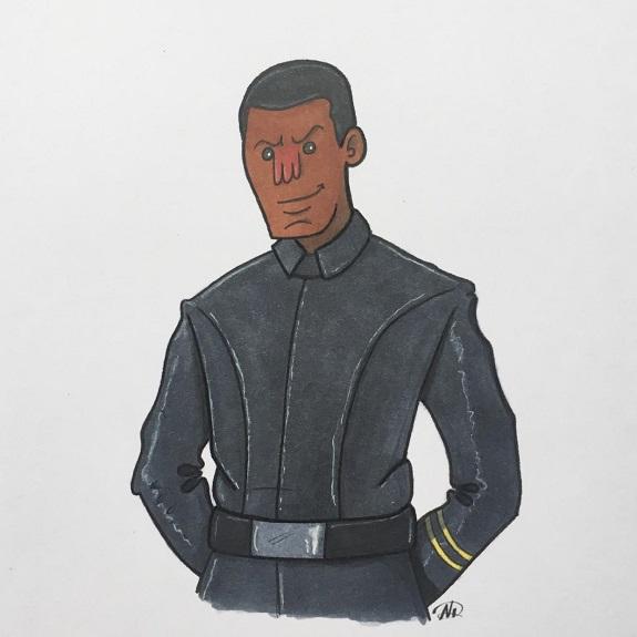 Finn in Uniform zu Episode VIII