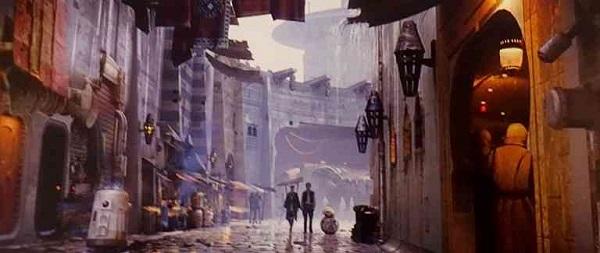 Die exotische Stadt im Artbook zu Episode VII