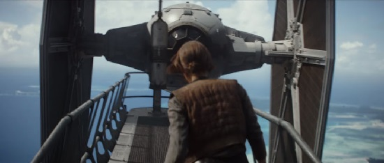 Jyn und Tie Fighter