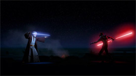 Ben Kenobi gegen Darth Maul in Twin Suns
