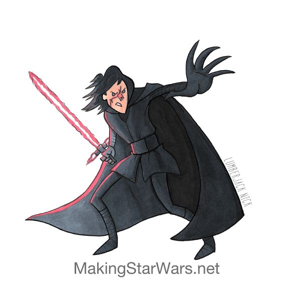 Kylo Ren in Episode VIII