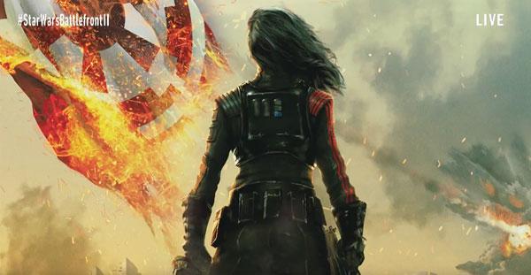Star Wars Battlefront 2 - Iden Versio vor der imperialen Flagge