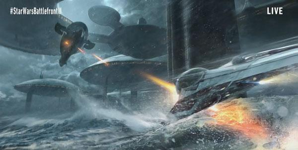 Star Wars Battlefront 2 - Kamino mit Jedi-Starfighter und der Slave I