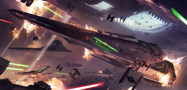 BF2 Konzept: Raumschlacht