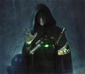 Luke baut sein grünes Lichtschwert