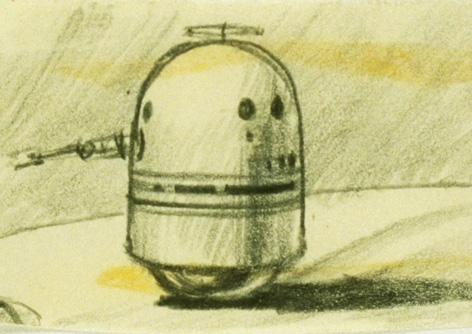 Ralph McQuarries Konzept für R2-D2