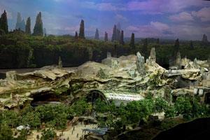 Das Star-Wars-Land als Modell