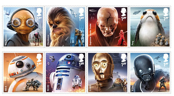 Neue Briefmarken zu <i>The Last Jedi</i>