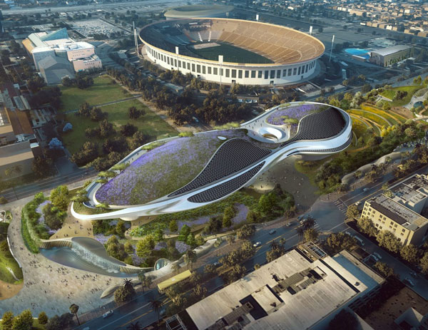 Planungsillustration zum Lucas Museum of Narrative Art in Los Angeles