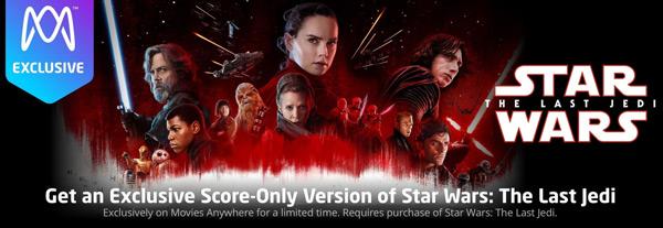 The last Jedi - Score only