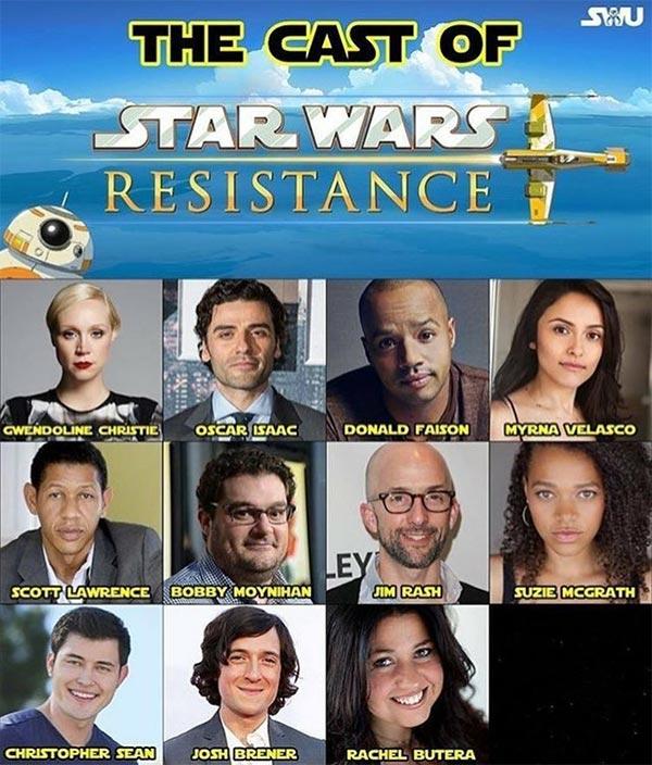 Der Cast von Star Wars Resistance