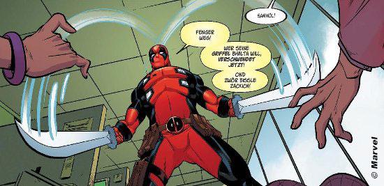 Deadpool auf schwäbisch - Ausschnitt - © Marvel