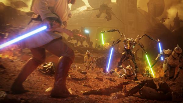 Battlefront II: Geonosis mit General Grievous und Obi-Wan Kenobi