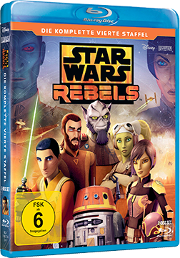 Star Wars Rebels Staffel 4 - Blu-ray-Cover © 2018 & TM Lucasfilm Ltd.