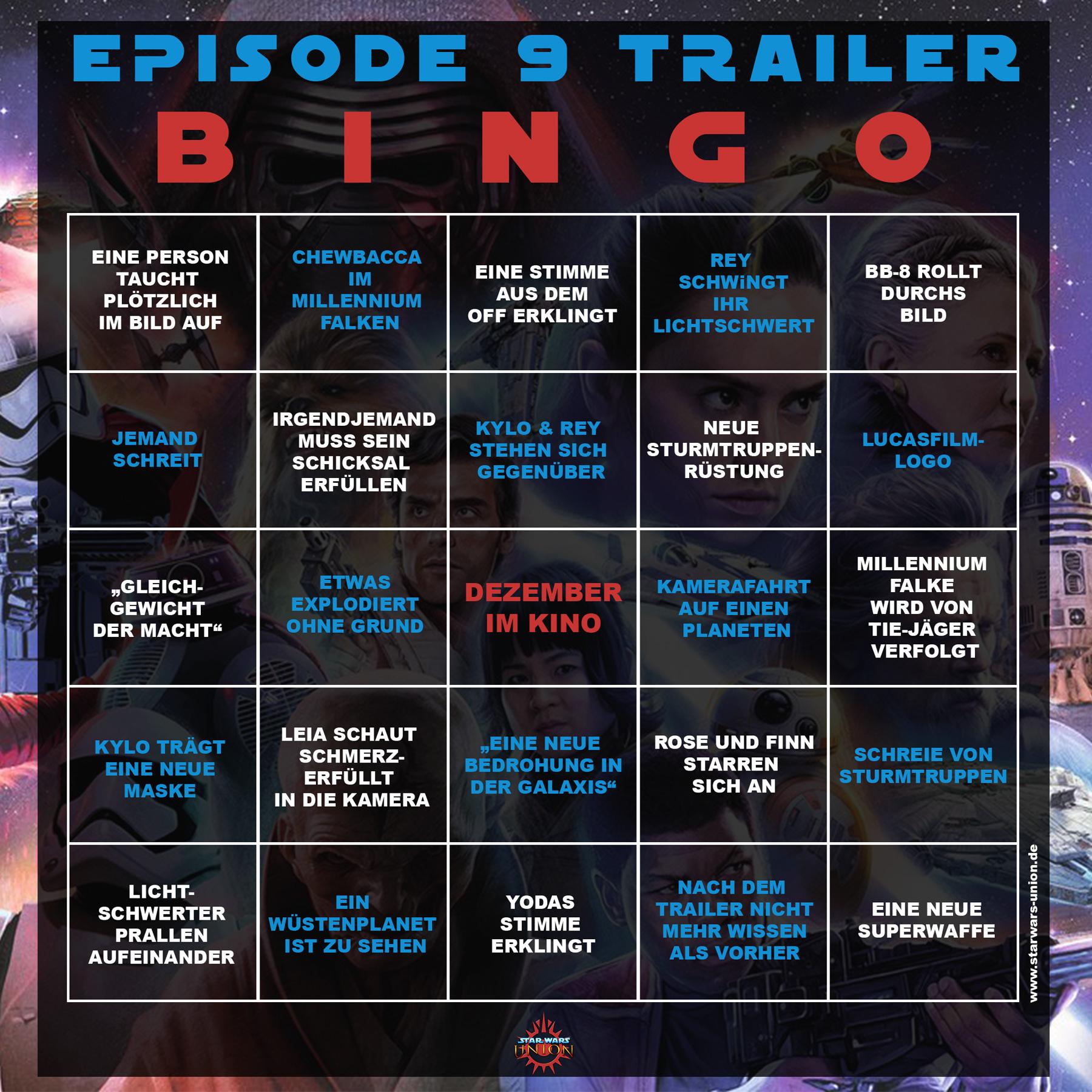 Unsere Episode-IX-Trailer-Bingo-Karte - Nachrichten - Star
