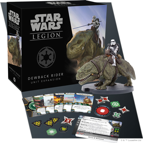 Star Wars: Legion - Dewback-Reiter