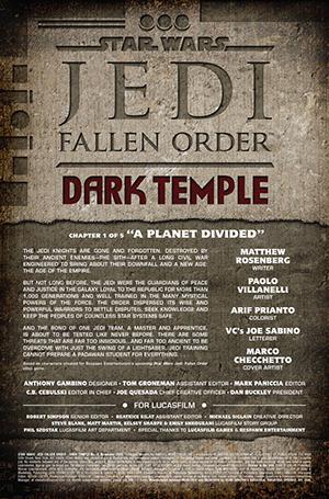 Vorschauseiten zu Jedi: Fallen Order - Dark Temple #1