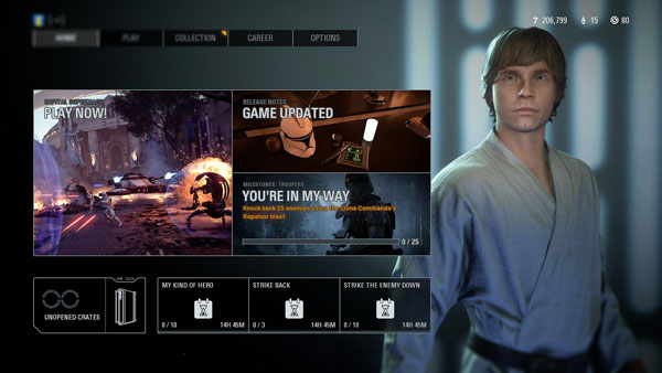 Farmerjunge Luke in <em>Battlefront II</em>