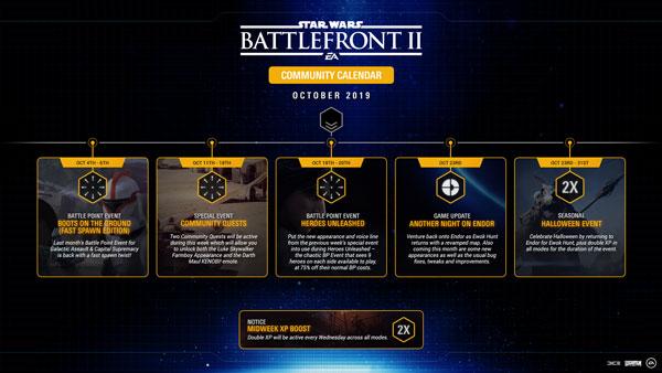 Battlefront II: Community-Kalender für Oktober 2019