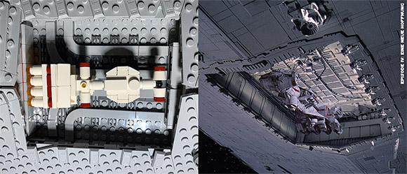 Imperialer Sternenzerstörer - LEGO-Hanger vs. Film-Hanger