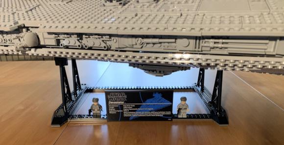 Imperialer Sternenzerstörer - Infoschild mit Minifiguren