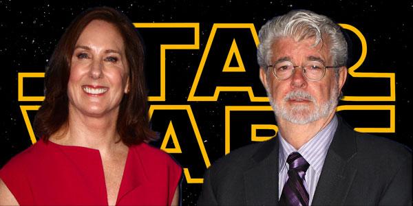Kathleen Kennedy und George Lucas