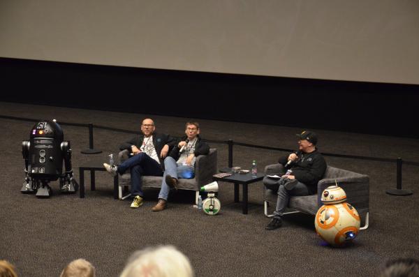 Echo Base Con: Lee Towersey und Brian Herring während des Panels