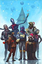 2013 schuf ILM-Künstler Tyler Scarlet diesen Kopfgeldjäger-Chor für die Lucasfilm-Weihnachtskarte