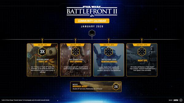 Battlefront II Community Kalender Januar 2020